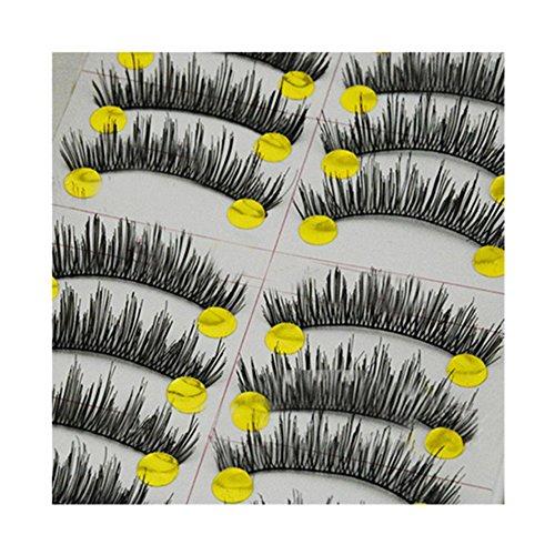 Générique 10 Paires Faux Cils Naturels Epais Volumineux Cils Maquillage Pour Les Yeux #086
