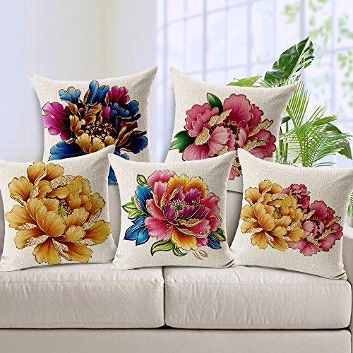 Amazing India Floral Cushions Cover(Pack of 2, 40 cm*40 cm, Orange)