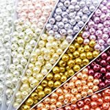TOAOB 500pcs 6 mm Glass Beads Assorted Mischfarbige Rondelle Beads for Jewellery Making