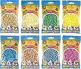 Hama Happy Price Toys Midi Bügelperlen Konvulut 8 Farben (Creme,Pastell Pink,Hellgrün,Hautfarbe,Beige,Türkis,Pastell Gelb,Pastell Blau)