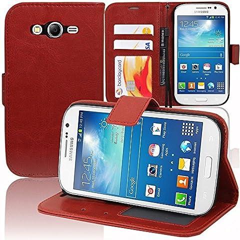 Samsung Galaxy Grand Plus/ Neo/ Lite Étui HCN PHONE® Housse Portefeuille Etui Clapet Folio Livre Rabat Support Intégré pour Samsung Galaxy Grand Plus/ Neo/ Lite - ROUGE