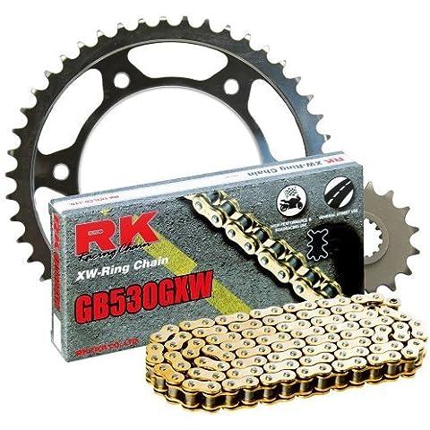 RK Racing Chain 3136-990WG e posteriore, pignone GB530GXW di 20,000 Mile RK Racing Chain Kit