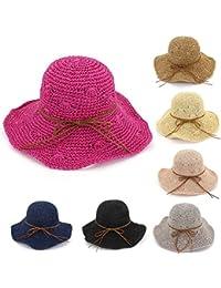 Amazon.es  sombrero playa mujer - Pamelas   Sombreros y gorras  Ropa 2ade896f482