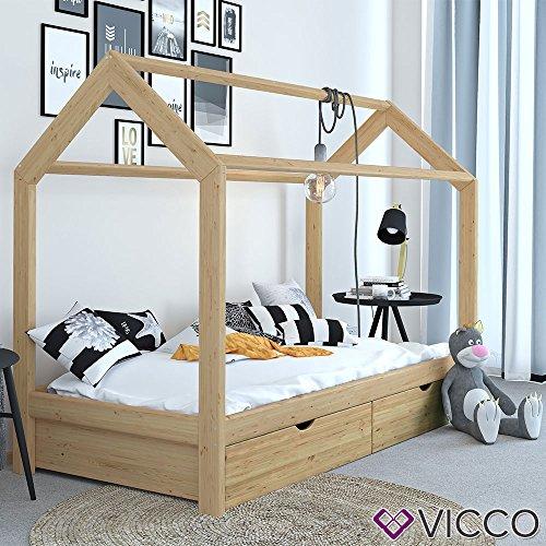Vicco Hausbett Kinderbett natur