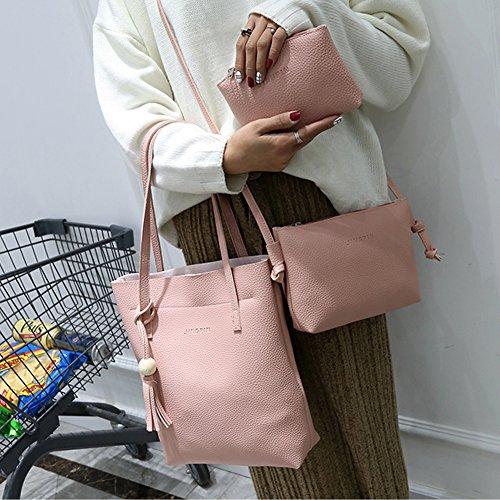 Amazingdeal365 1 Set New Fashion Women PU Leder Mini Umhängetasche Schulter Crossbody Schultertasche Tasche Pink