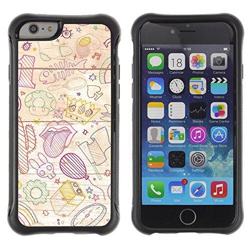 Graphic4You Art Drawing Design Shockproof Anti-Rutsch Weichen Hülle Case Tasche Schutzhülle für Apple iPhone 6 / 6S Design #17