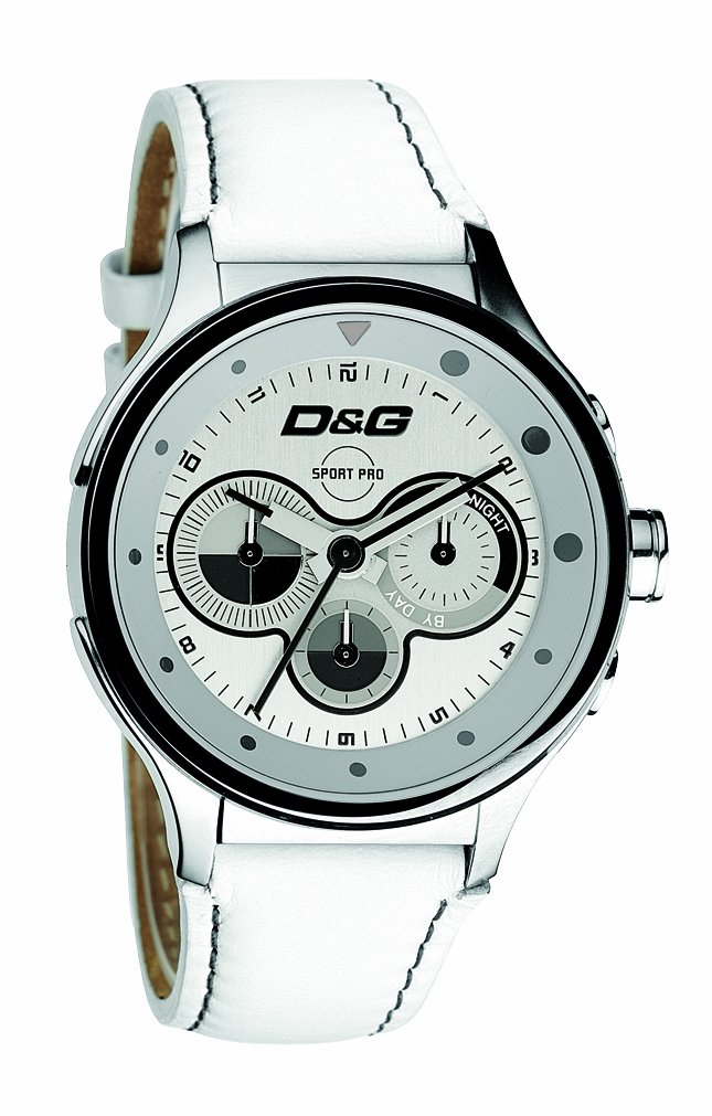 D&G Dolce&Gabbana D&G Codename – Reloj analógico de mujer de cuarzo con correa de piel blanca