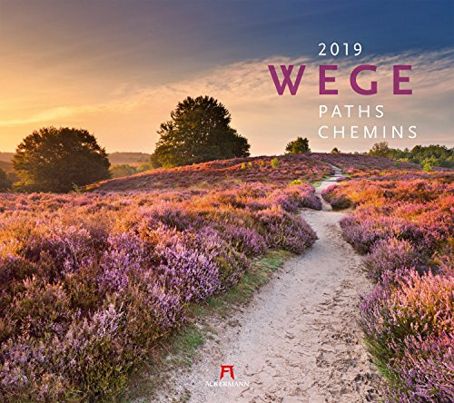 Wege 2019, Wandkalender im Querformat (54x48 cm) - Landschaftskalender mit traumhaften Pfaden in der Natur mit Monatskalendarium