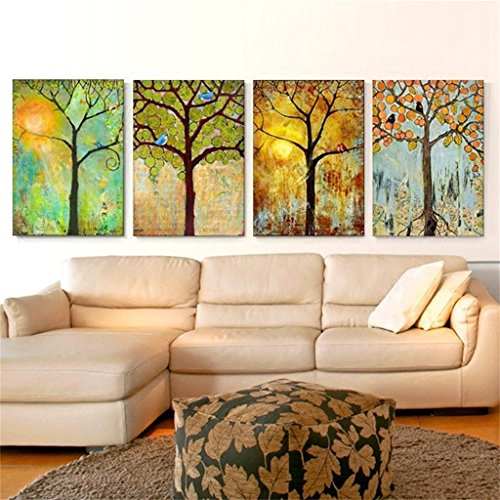 Mr.Zhang's Art Home Painting Im europäischen Stil Wohnzimmer Malerei Sofa Hintergrund Wand hängenden Restaurant Wandmalereien Vier Jahreszeiten Baum -