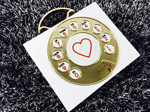 Zarapack femmes acrylique rigide de soirée téléphone Style Sac bandoulière - blanc