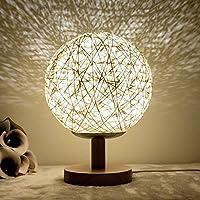 Holz LED Nachtlicht, USB Charing Dimming Tischlampe, Bett Warm Light Lampe preisvergleich bei billige-tabletten.eu