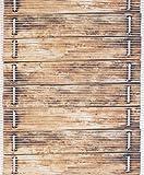 Badvorleger Aquamat Antirutsch Matte Bodenbelag, Bad Garten Küche, Holzbrücke, Größe wählbar (100x65 cm)