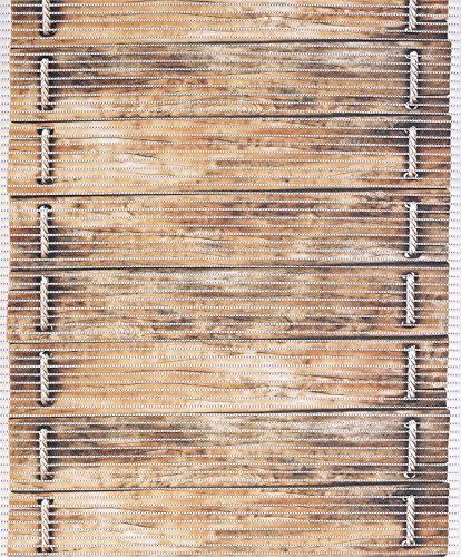 Badvorleger Aquamat Antirutsch Matte Bodenbelag, Bad Garten Küche, Holzbrücke, Größe wählbar (170x65 cm)