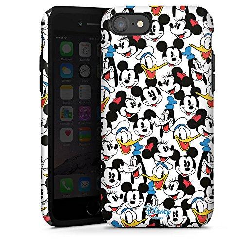 Apple iPhone X Silikon Hülle Case Schutzhülle Disney Mickey Mouse Goofy Donald Duck Minnie Mouse Fanartikel Geschenke Tough Case glänzend