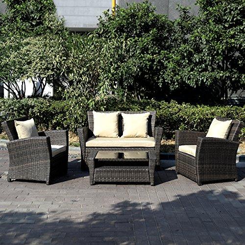 11tlg.Gartenmöbel Rattan Lounge Set Polyrattan Sitzgruppe Rattanmöbel Garnitur Garten - 2