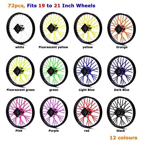 Preisvergleich Produktbild HURI 72 x Wheel Spoke Wraps Skins Cover Für Honda Yamaha Suzuki KTM Motorrad Bikes (Orange)