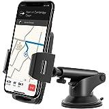 Eono by Amazon - Porta Telefono Auto, Supporto Smartphone per Auto, per Cruscotto e Parabrezza con Rivestimento Lavabile in