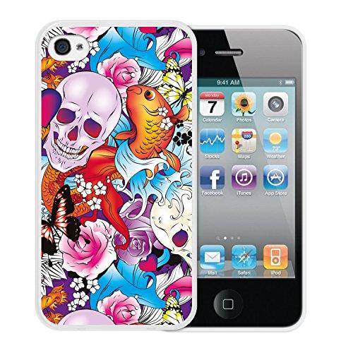 iPhone 4 iPhone 4S Hülle, WoowCase® [Hybrid] Handyhülle PC + Silikon für [ iPhone 4 iPhone 4S ] Husky-Hunde Sammlung Tier Designs Handytasche Handy Cover Case Schutzhülle - Transparent Housse Gel iPhone 4 iPhone 4S Transparent D0568