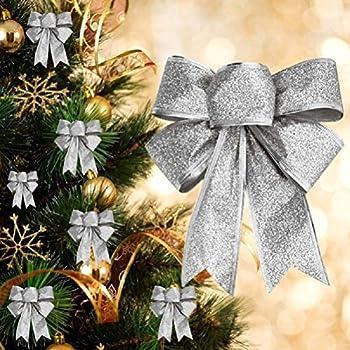 2x gro weihnachten schleifen weihnachtsbaum anh nger. Black Bedroom Furniture Sets. Home Design Ideas