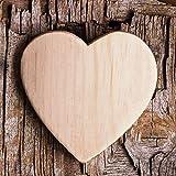 Eurographics DG-AHA1124 Glasbild Deco Glass Wooden Heart  20 x 20 cm