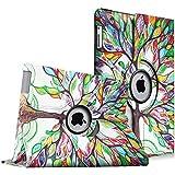 Fintie iPad 4 / 3 / 2 Funda - Giratoria 360 Grados Smart Case Funda Carcasa con Función y Auto-Sueño / Estela para Apple iPad 4 / iPad 3 / iPad 2, Love Tree
