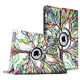 Fintie Apple iPad 2 / iPad 3 / iPad 4 Retina Hülle Case Schutzhülle Etui Tasche - 360 Grad Rotierend Stand Smart Cover mit Auto Schlaf / Wach Funktion, Liebesbaum
