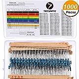 1000 Stücke 50 Werte 1% Widerstand Kit, 1 Ohm - 6.8E Ohm 1/4W Metallschicht Widerstände Sortiment für DIY und Experimente