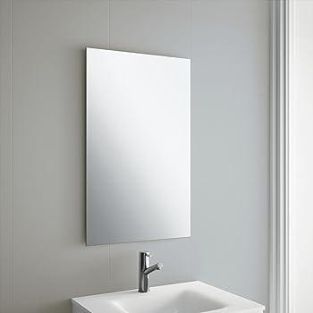 50 X 70cm Rectangle Bathroom Mirror Unframed Frameless