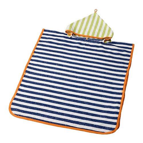 ikea-slappa-handtuch-mit-kapuze-dunkelblau-grun-60-x-62-cm