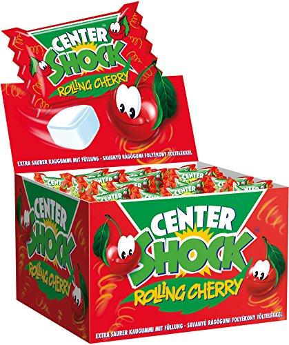 Center Shock Rolling Cherry, 3 Boxen mit je 100 Kaugummis, Kirsche-Mix extra sauer
