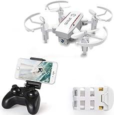 IZI JX 1601HW RTF Mini WiFi FPV with 720P Camera Altitude Mode Foldable Arm RC Drone Quadcopter - 2.0MP White