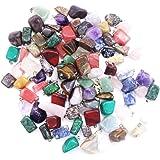 Artibetter Colgantes de Piedra de ágata de Cristal Natural de 20 Piezas de Cristales de Chakra para Hacer joyería de artesaní