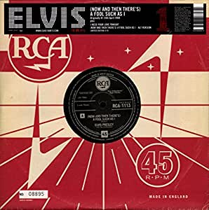 """(Now and Then There's) A Fool Such As I / I Need Your Love Tonight [10"""" VINYL]"""