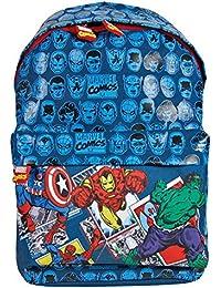 Mochila para Niño Marvel Los Vengadores - Bolso Escolar Avengers de Capitán América Iron Man Spiderman