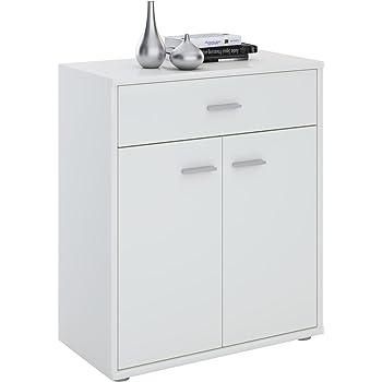 Schlafzimmer Schubkastenkommode Kommode SIDEBOARD 46 cm Schrank Möbel Weiß