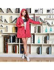 Manteau imperméable féminin à imperméable féminin à la mode Imperméable à l'eau longue avec 4 couleurs