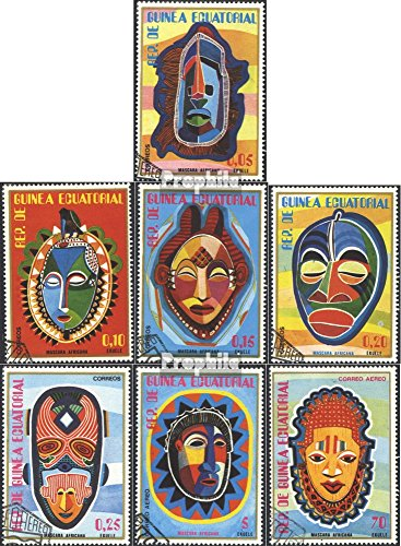 Prophila Collection Äquatorialguinea 1111-1117 (kompl.Ausg.) 1977 Afrikanische Masken (Briefmarken für Sammler) Kultur