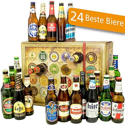 Bier Adventskalender Welt mit Tsingtao + Saigon Export + Cobra Premium Beer + mehr … Ein tolles Geschenk für Männer. Bierset + Geschenk, Biersorten WELTWEIT. Adventskalender