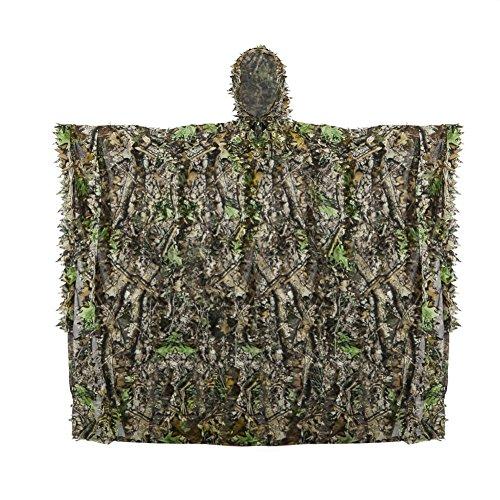 hnelltrocknend Polyester 3D-Blätter Tarnen Cape Umhang Mantel Stealth Waldjagdbekleidung (tarnung) (Jagd Camo-blätter)