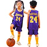 Sheki Uniforme de Baloncesto Camiseta Kobe # 24, Camiseta de Ventilador de Verano Chaleco sin Mangas Traje de Ropa Deportiva,