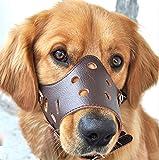 dekawei Hund Maulkorb verstellbar anti-biting Schnauzen für kleine medium Große Hunde bellen Bitting Kauen Pet Cat Leder Maske Schnauzen
