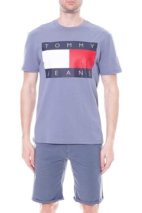 Tommy Jeans – Camiseta de hombre azul con impresión de la ...
