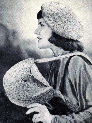 Glitter for Eye-Lure Tam & Shoulder Bag Handbag Purse Crochet Hat Cap Pattern (English Edition)
