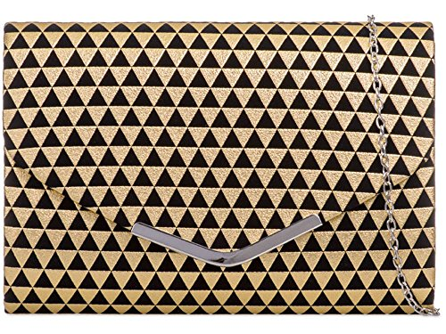 Hautefordiva , Damen Clutch gold M gold