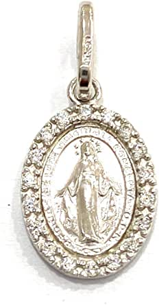 Medaglietta Vergine Miracolosa in argento Sterling
