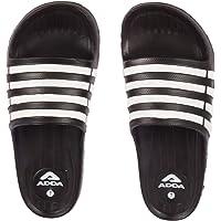 ADDA Men's White Synthetic Slides (I-Run)
