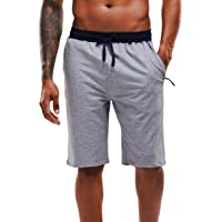 YAWHO Men's Sport Running Workout Shorts Quick Drying Breathable Training Fitness Jogging Gym Shorts with Zipping…
