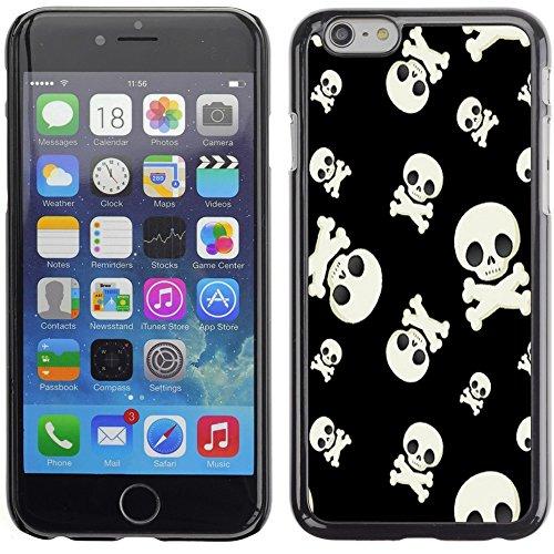 Graphic4You Crazy Music Skull Skeleton Design Harte Hülle Case Tasche Schutzhülle für Apple iPhone 6 Plus / 6S Plus Design #5
