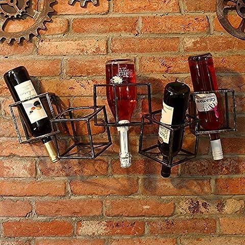 FAFZ Porte-bouteilles Porte-grilles en bois Porte-bouteilles Cabinets à vin Fer