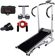 Lifeline Manual Treadmill Machine for Walking and Running at Home| Bonus Tummy Trimmer | Skipping Rope | Gym Bag And Sweat B